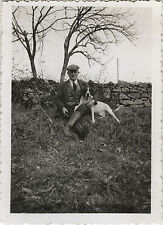 PHOTO ANCIENNE - VINTAGE SNAPSHOT - ANIMAL CHIEN CHASSEUR CHASSE - DOG HUNTER
