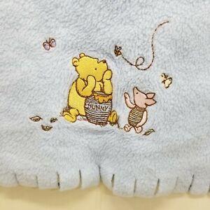 Disney Classic Pooh Blue Fleece Blanket Baby Nursery Crib Security Replacement