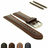 Classic Genuine Leather Watch Strap Band ZigZag stitched 18 20 22 24 Florence MM