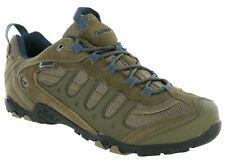 Hi-tec Penrith Low Mens Waterproof Walking Hiking Trainers Brown / Majolica Blue