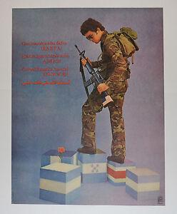 1989 Original Cuba Political Poster.Cold War Graphic art.Central America.Basta!