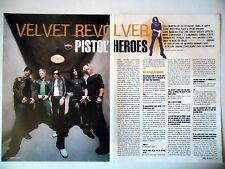 COUPURE DE PRESSE-CLIPPING :  VELVET REVOLVER [4pages]2004 Duff,Slash,Contraband