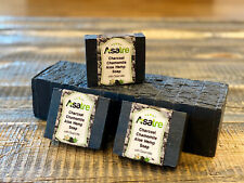 Charcoal Aloe Chamomile Goat Milk Handmade Hemp Soap Bar