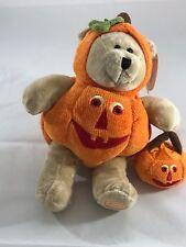 Starbucks Bearista Bear 2008 Halloween Orange Jack O Latern  with tags