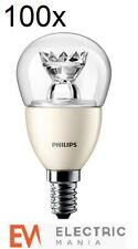 100x Philips E14 Small Edison Screw 4 Watt LED Spot Warm White [Energy Class A+]