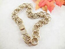 """Women's Necklace Donald Stannart Double Circles Plated Gold-Toned Metal 16"""" L"""