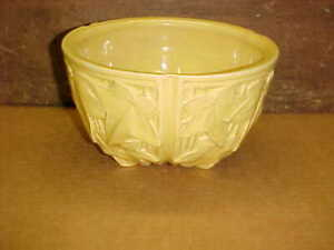 Vintage McCoy Marked Yellow Hanging Flower Pot