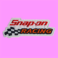 Snap On  Racing Car Winner Flag Hot Rod Tools Badge Embroidered Iron On Patch