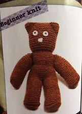 BK1 - KNITTING PATTERN - MR BEAN Style TEDDY BEAR/ EASY KNIT-choose Your Colour