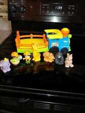 Lot Little People Fisher Price SOUNDS Animals Zoo Truck Wagon