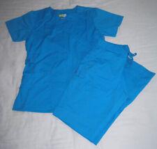 WonderWink Grace Xs Scrub Top & Bottoms Malibu Blue WonderFlex Scrub Pants Nice
