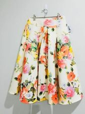 Midi High Waist Floral Skirt - High Quality - Brand new - Size 10 - Modest