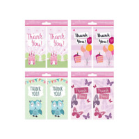 Pack of 16 Thank You Cards + Envelopes /  Various Designs  / Any Occasions -4485