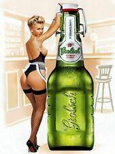 GROLSCH Dutch Lager Beer Pin Up Sex Vintage Bar Pub Shed MAN CAVE Metal Tin SIGN