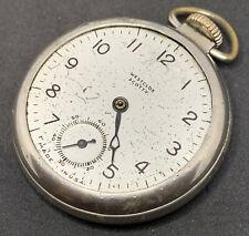 Westclox Scotty Dollar Pocket Watch American Ticking For Repair No Crystal F2385