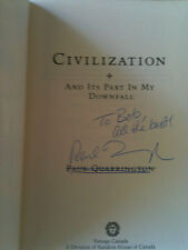 Signed Paul Quarrington CIVILIZATION and my part in its downfall  PB Autographed