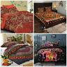 Indian Mandala Duvet Cover Quilt Cover Boho Bedding Set Single Double King Size
