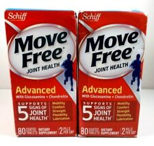 Schiff Move Free Joint Health Advanced 80 Coated Tablets Each - 2 Bottle Set