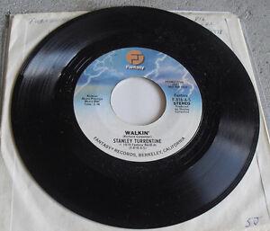 Promo Record 45 RPM Stanley Turrentine Walkin Fantasy Records 1978