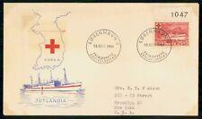 Mayfairstamps Denmark 1951 Jut Landia Ships Korea Red Cross first Day Cover wwf9