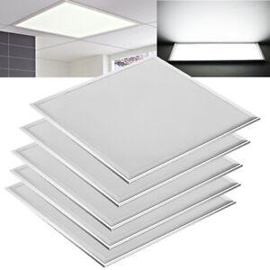 5Pack 2x2 Ft LED Panel Light Drop Ceiling Flat 6500K Recessed Troffer Fixture