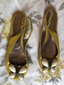 BODEN Shoes Mustard Butterfly Sling Backs Size 4  37