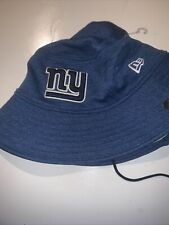 NFL New York Giants New Era Training Bucket Hat Cap Pro Bowl - Blue Size M/L