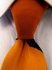 Men's Kima Orange Brown Silk Tie 21705
