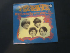 The Monkees - D W Washburn/ Its Nice To Be With You 45 RPM Record w Pic Sleeve