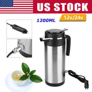 1200ml Portable Vechile Car Electric Kettle Heater Mug 12V/24V for Hot Water Tea