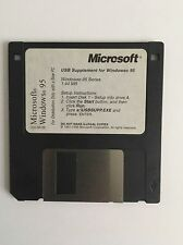 microsoft usb supplement for windows 95. On 1.44mb floppy disk.