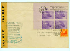 Wwii Censored Letter 392 3¢ Mayor General Carlos Roloff 1/2¢ Victoria