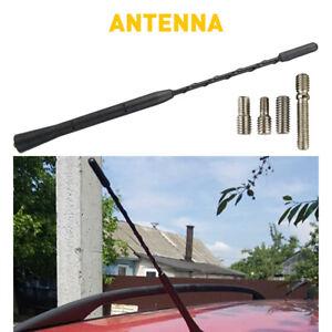 9inches Car Antenna Carbon Fiber Radio FM Antena Black Kit Universal Screw EO
