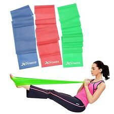 xFitness Flat Stretch Bands for Exercise Workout, Yoga, Pilates - Set of 3 Bands