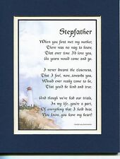 #26 Gift Present Thank you Keepsake Poem for Stepfather Birthday Fathers Day