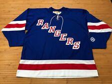 MENS XL - Vtg NHL New York Rangers Koho Glued On Jersey