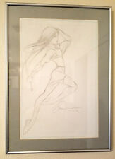 WILLIAM BILL TUCCI Signed SHI Large Sketch Professionally Matted & Framed Auto!