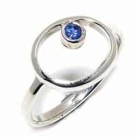 Blue Sapphire Natural Gemstone Handmade 925 Sterling Silver Ring Size 6 R-144