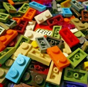 LEGO 1x2 PLATES (Packs of 10 Plates) Choose Colour - Design 3023, 6225