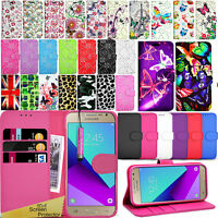 For Samsung Galaxy J2 PRIME -Wallet Leather Case Flip Cover + Screen Protector