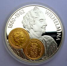 Netherlands Antilles 10 Gulden 2001 Silver Proof with Gold Trade coin Gouden tie