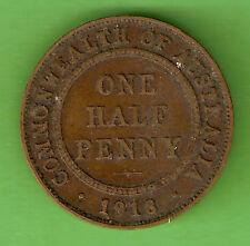 1918  AUSTRALIAN BRONZE HALFPENNY COIN