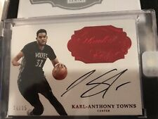 Karl-Anthony Towns 2016 Flawless Basketball auto Rare 14/15 Encased Autograph