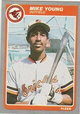 FREE SHIPPING-MINT-1985 (ORIOLES) Fleer #195 Mike Young