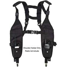 Universal Double Radio Shoulder Harness Holster Chest Holder Vest Rig For Police