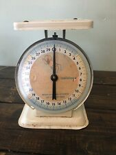 Vintage nursery Baby rustic primitive scale Toddletime 30lbs Working