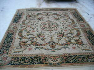 BEAUTIFUL HIGH END 8X10 AUBUSSON RUG 250-300 KPSI GREAT COLORS