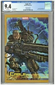 Cable #11 CGC 9.4 Ngu Variant Cover Connecting Edition BTC Slab City Wolverine
