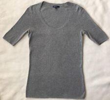 GAP Maternity Sweater Shirt Short Sleeve Grey Scoop Neck Career Top MEDIUM