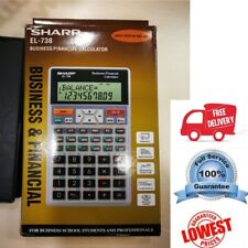 AU Stock Genuine Sharp EL-738 Business/Financial Calculator 2 years warranty